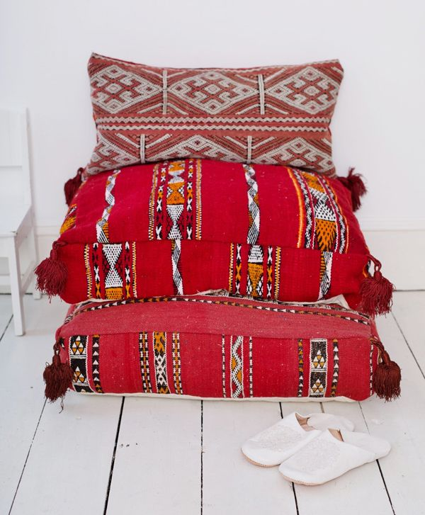 MOROCCAN KILIM FLOOR CUSHIONS | THE STYLE FILES