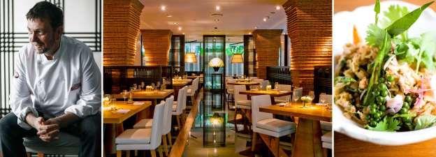 22. Nahm in Bangkok, Thailand Chefkoks: David Thompson (foto) en Prin Polsuk Soort keuken: Authentiek Thais Signatuurgerecht: Salade van groene mango met gegrild varkensvlees en zure bladeren