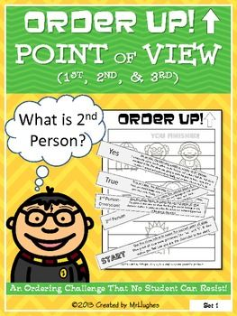 Get those kiddos reviewing different points of view with this fun ordering activity. Students use their heads AND their hands to solve 9 problems! Order Up! Point of View ($)