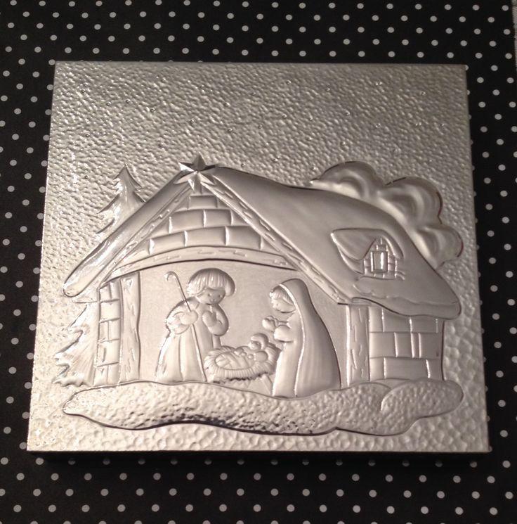 Repujado en aluminio  Pieza hecha a mano  Por Graciela M.                                                                                                                                                                                 Mais
