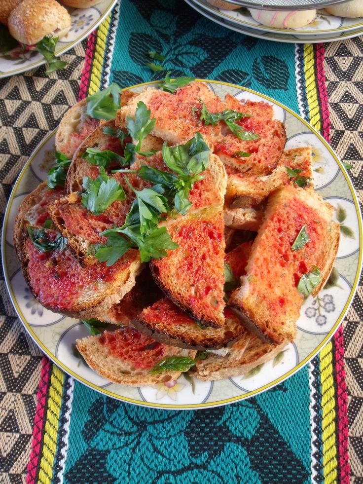 Hobz biz-zejt - a typical Maltese dish -