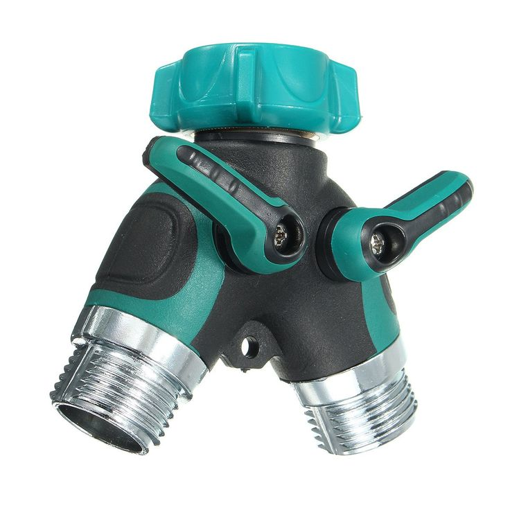 Three-Way Valve Pipe Distributor ABS Stainless Steel Hose Pipe Tool 2 Way Connector 2 Way Tap Garden Hoses Pipes Splitters