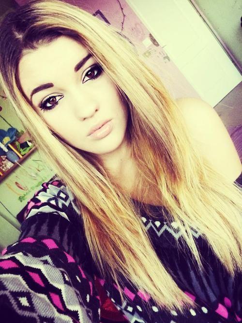Im in love with that make up look (blonde hair, brown eyes ...