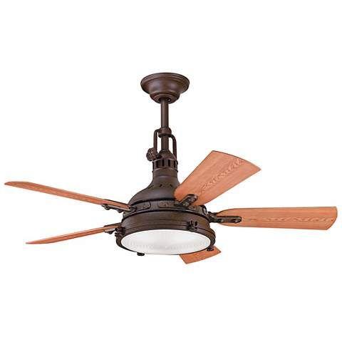 """44"""" Kichler Hatteras Bay Tannery Bronze Finish Ceiling Fan - #N0851   LampsPlus.com"""