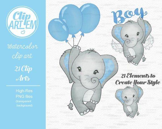 Elephant Boy Clip Art Watercolor Watercolor Baby Peanut Clipart Blue Baby Shower Birthday Crown Bow Tie It S A Boy Comm Use Baby Elephant Clipart Elefantes Bebe Imagenes De Baby Shower