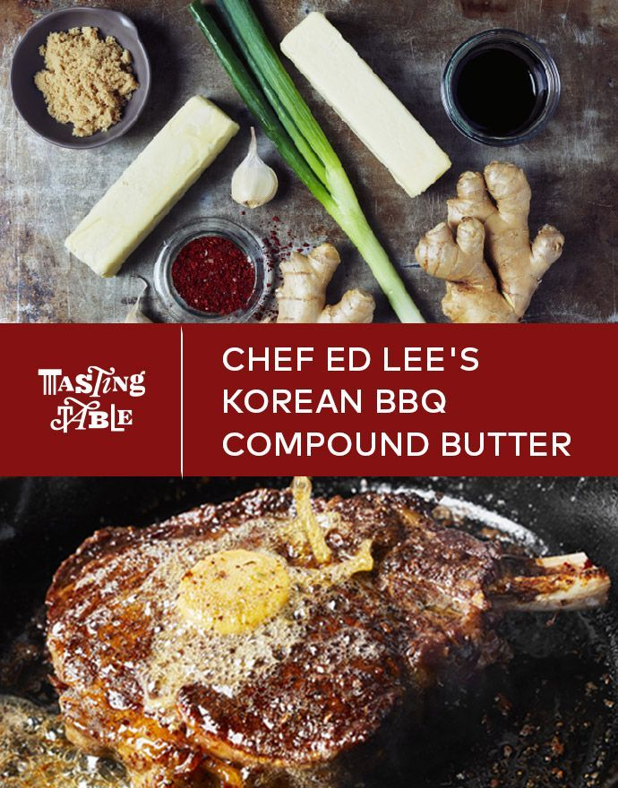 This fragrant Korean barbecue compound butter combines a rich soy sauce reduction with scallion, garlic and pepper flakes for a spice, sweet and salty condiment.