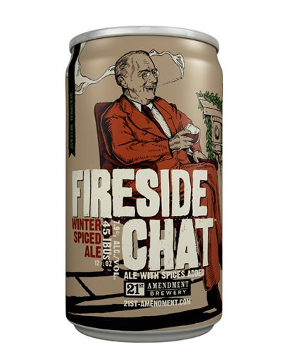 21st Amendment Fireside Chat : The spice mixture is based on what the brewmaster finds in the bulk bins at the local hippie grocery store. Cocoa nibs from Tcho add a unique bright, bittersweet top note to a warm and toasty foundation.