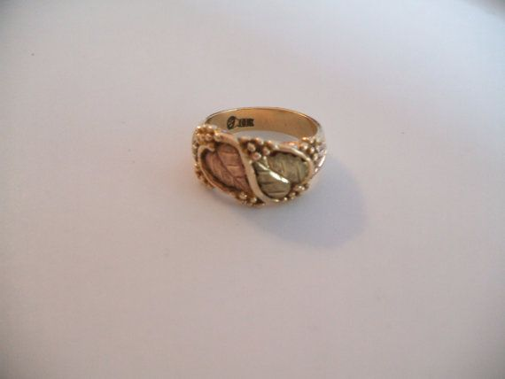 Vintage Black Hills Gold 10 Kt Band Yellow by LilysVintageJewelry