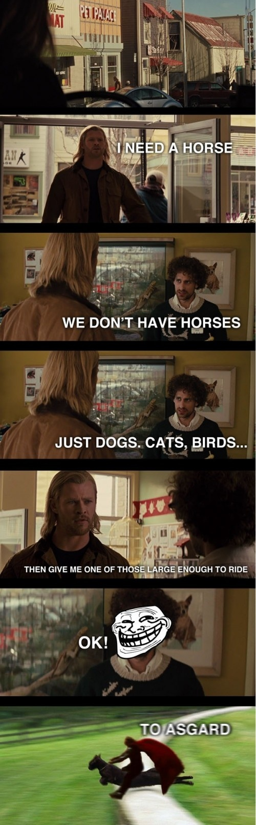 Lolz Thor, this is my favorite scene to quote.
