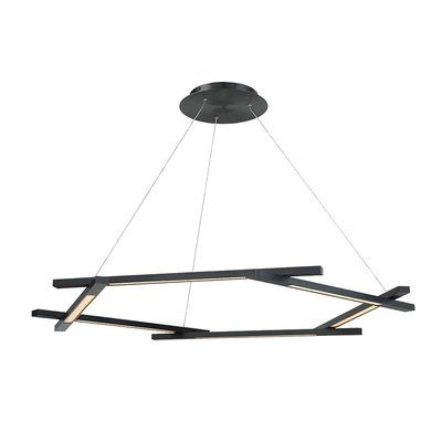 Modern Forms Metric 6-Light LED Chandelier Finish: Black