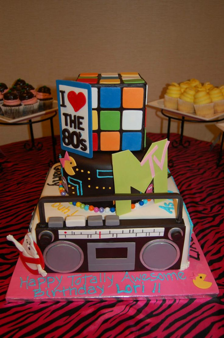 33 Best 80 Cake Images On Pinterest Anniversary Cakes Birthdays