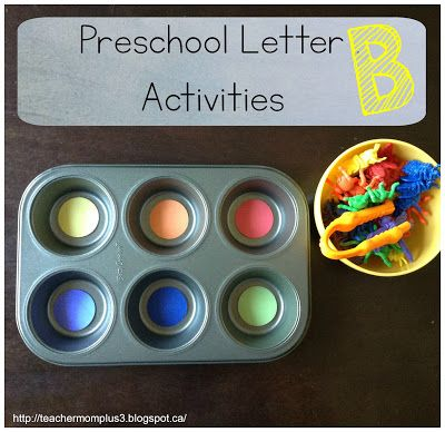 TeacherMomPlus3: Preschool Letter B Activities