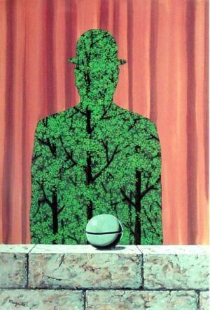 RENE MAGRITTE 1965 De man en het woud / L'Homme et la foret