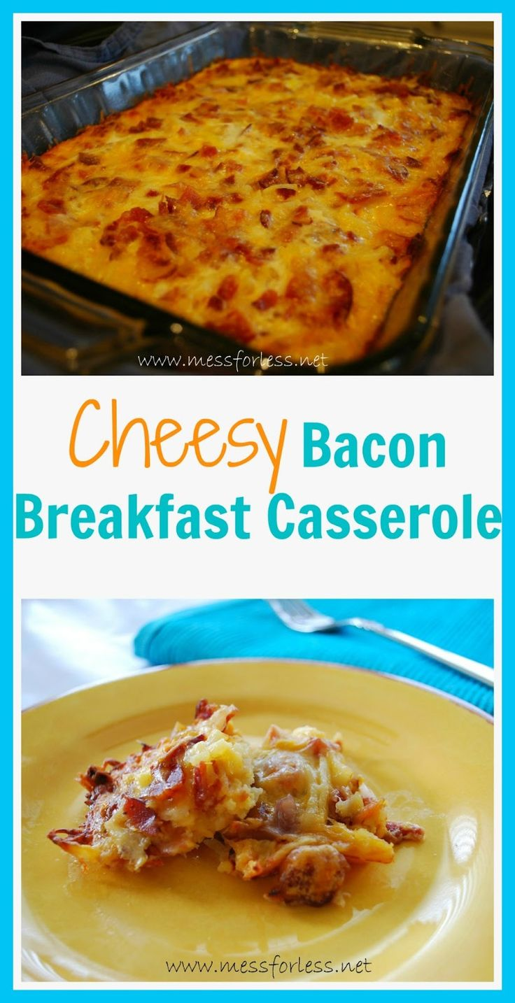 Breakfast Casserole Recipe - Cheese, bacon, potatoes and eggs. So ...