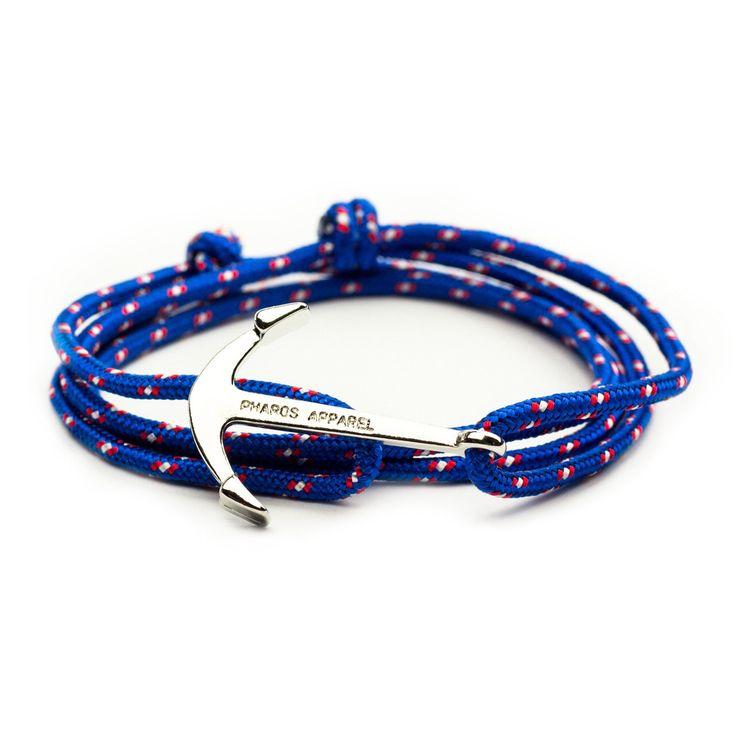 Royal Blue Anchor Bracelet - Men Women Preppy Pharos Apparel Accessories