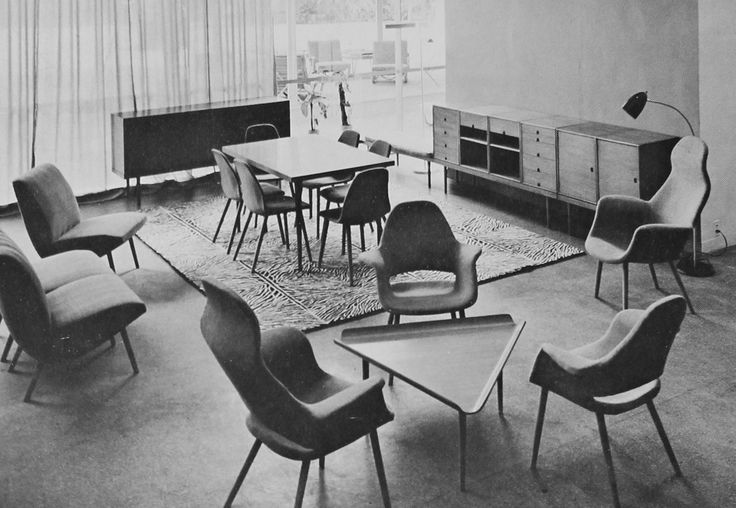 Charles Eames and Eero Saarinen / chair from the Museum of Modern Art Organic Design Competition