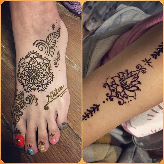 26 Likes, 6 Comments , @na_216.s on Instagram \u201c旅行の準備パート2♡ 足と腕にヘナタトゥーしてもらったよ♡  ネイルと合わせていー感じ(≧∇≦)💕 ヘナタトゥー
