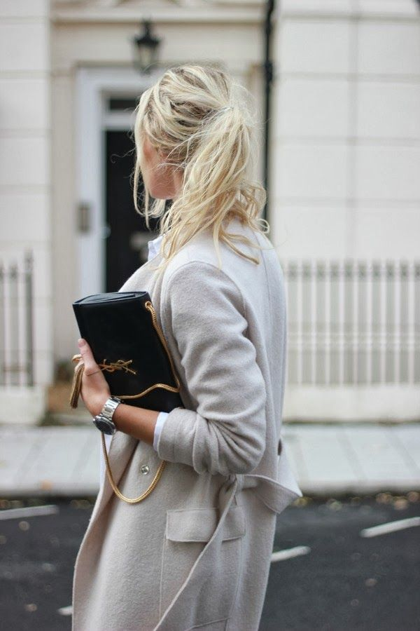 YSL and a messy ponytail