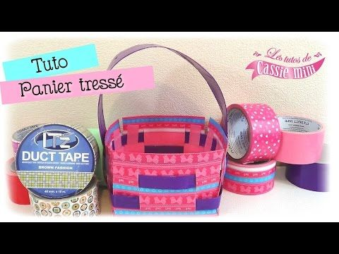 { Tuto } Panier tressé en IT'z duct tape - YouTube
