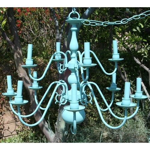 Find it at the Foundary - Charlotte 12 Arm Chandelier - Lady Blue
