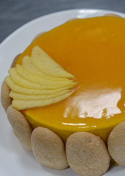 Торт-суфле с манго и кокосом (пошагово)
