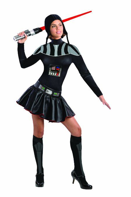 Amazon.com: Secret Wishes Star Wars Female Darth Vader Costume, Black, Large: Clothing