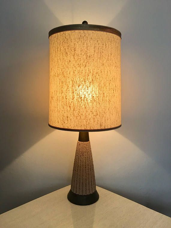 mid century modern 1960s petite ceramic table lamp vintage 1950s rh pinterest com