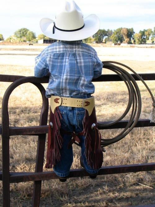 I know I'll probably never have a kid... but if I did, he/she would be a little cowboy or cowgirl.