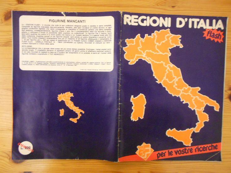 10 euro. Regioni d'Italia, ed. Flash, 1981. Condizioni buone. Presenti figurine 122 su 360 (e presenti 38 stemmi/costumi).
