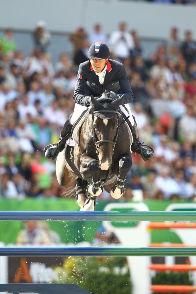Simon Delestre, 1er cavalier mondial avec son étalon Qlassic Bois Margot ( mars 2016)