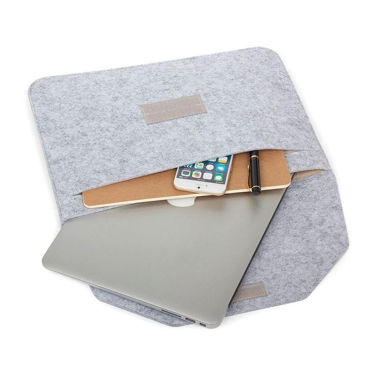 """Чехол из войлока Voground Light Grey для MacBook Pro 15"""" Retina"""