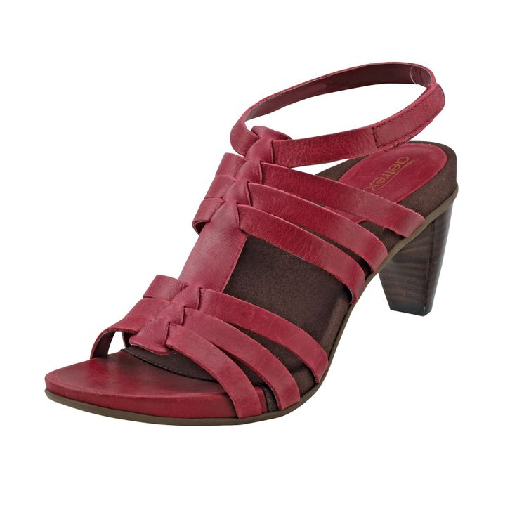 'Paige' Heeled Sandal in wine - new for Spring 2014
