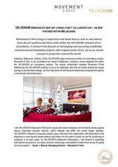 VELVENOIR ANNOUNCES NEW ART CONSULTANCY COLLABORATION – AN NEW PARTNER WITHIN MELBOURNE