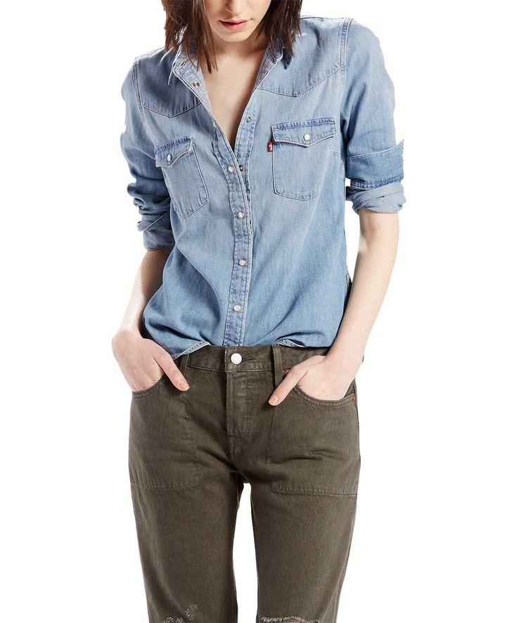 Levi's Jeanshemd für Damen - Classic Western - Seascape Light ✓ Rechnungskauf ✓ Gratis Versand ✓ Günstig Levis Jeanshemden bei Jeans-Meile online kaufen.