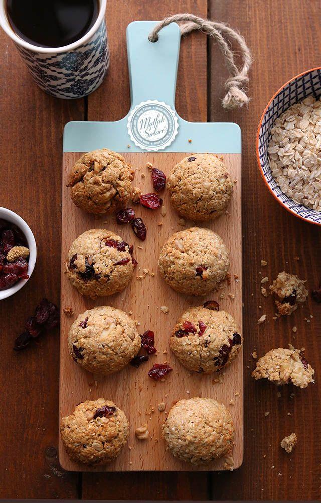 Kuru Meyveli Yulaflı Şekersiz Kurabiye Tarifi | Mutfak Sırları