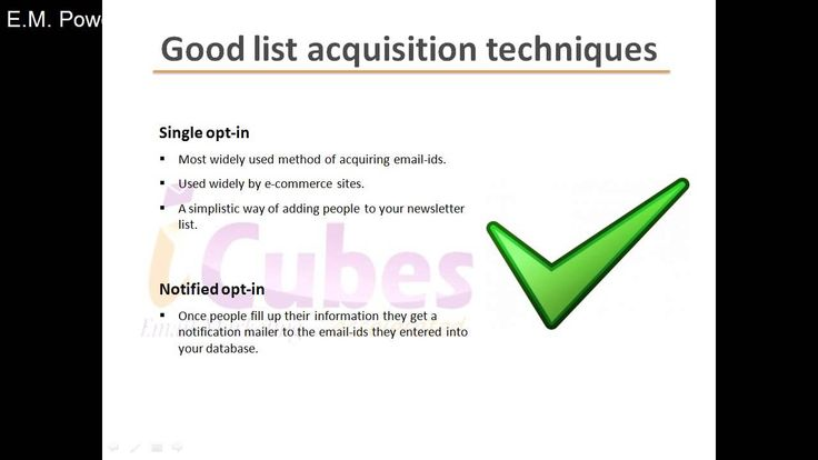 Email Marketing Tips - List Hygiene