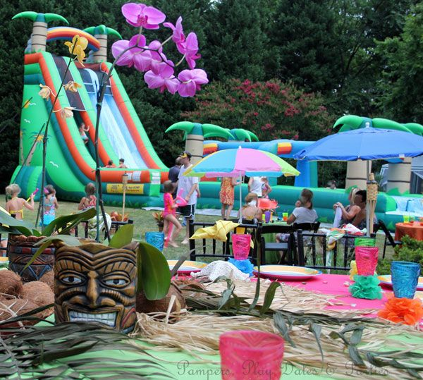 Backyard Hawaiian Luau :  InternetTrends66570 Backyard Birthday Party Ideas Sweet 16 Images