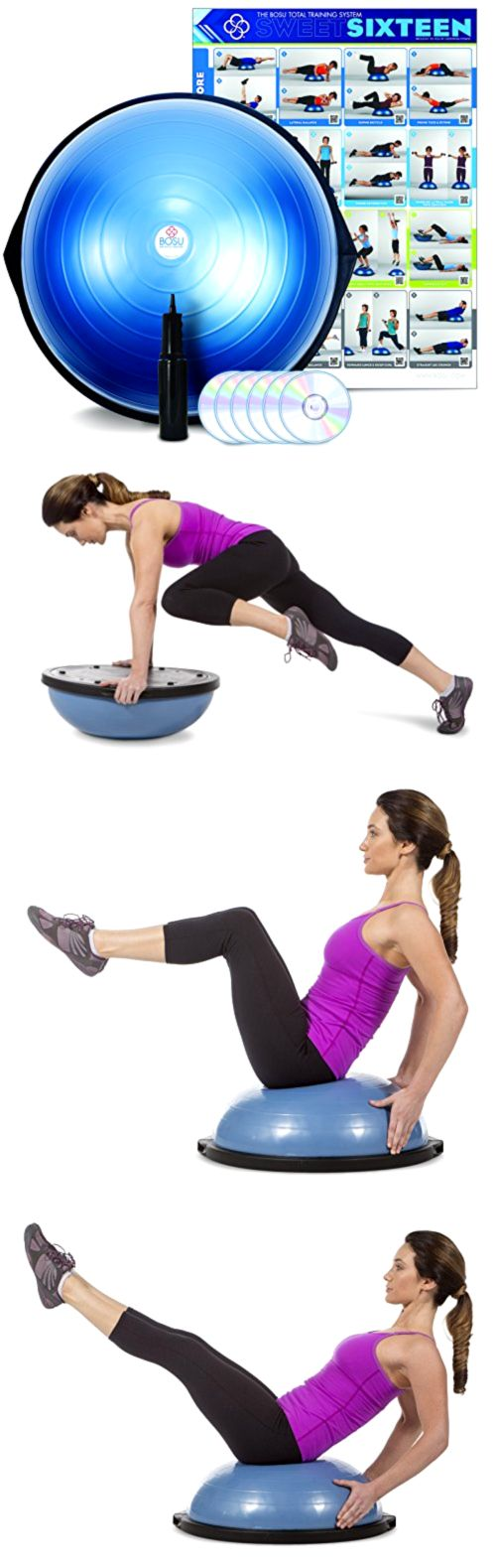 Balance Trainers 179803: Bosu Ball Pro Balance Trainer Exercise Ball Commercial Professional Gym Unit Fun -> BUY IT NOW ONLY: $108.22 on eBay!