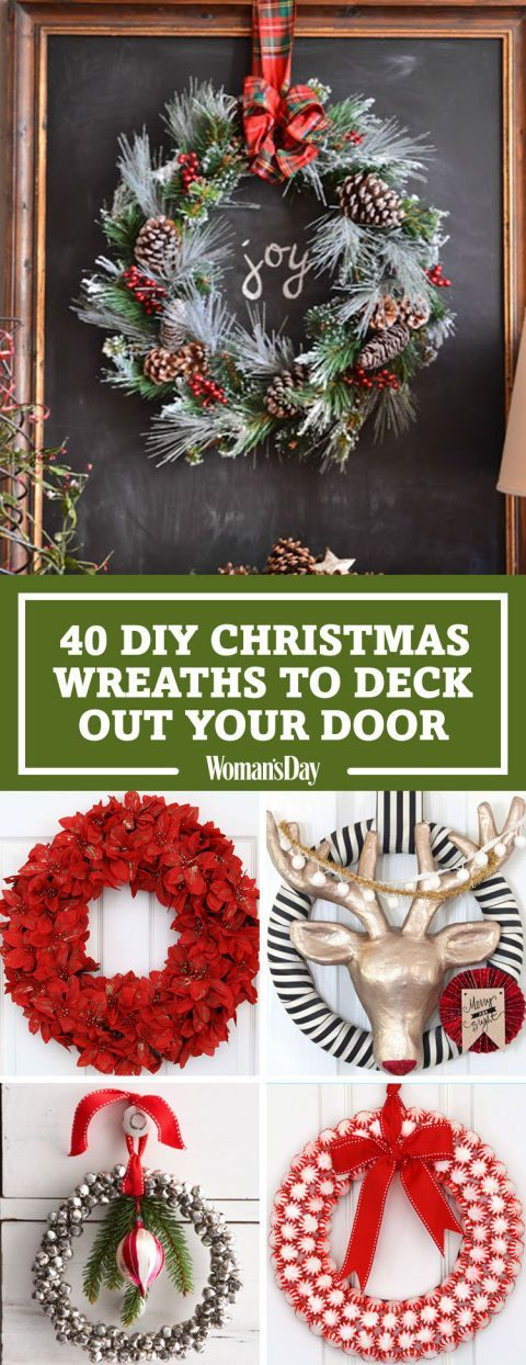 Deck your halls with these ingenious embellishments made from everyday supplies. These DIY Christmas Wreaths will bring holiday joy to your home.