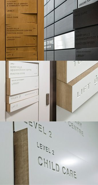 Routed typography as wayfinding