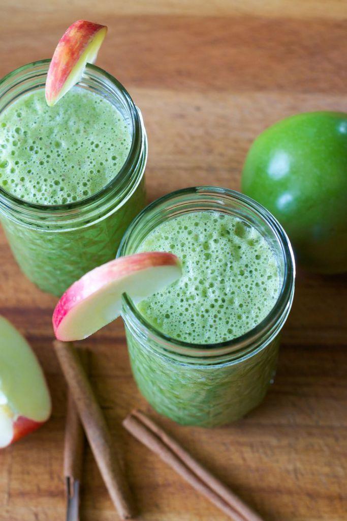 Le smoothie vert « tarte aux pommes »