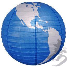 "16"" World Paper Lantern"