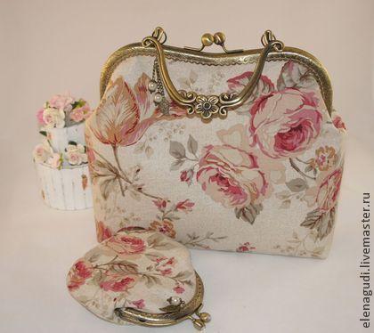 Летняя сумочка + кошелёчек - бежевый,цветочный,сумочка летняя,сумочка