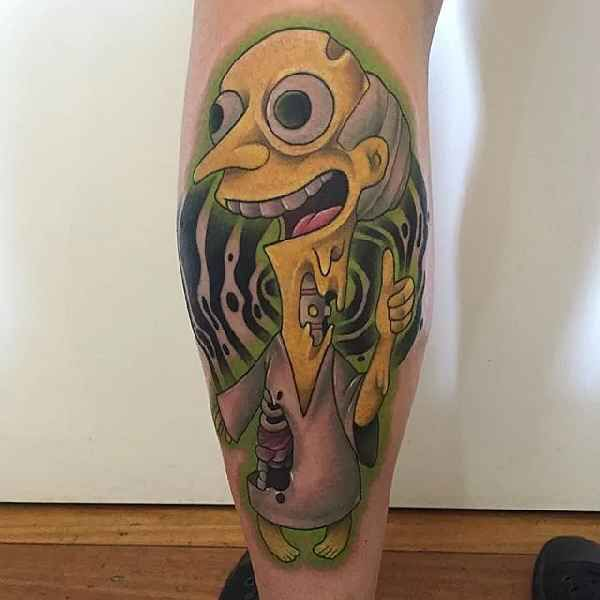 Burns simpsons tattoo