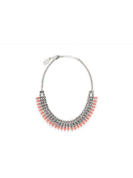 Multi Layer Necklace with Contrast Jewel $139