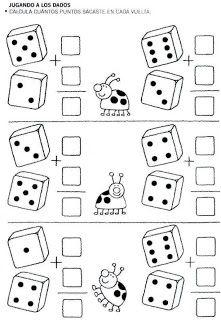 Jugamos con los números para niños con fichas para cinco años de sumas y serie numérica jugamos con las fracciones.