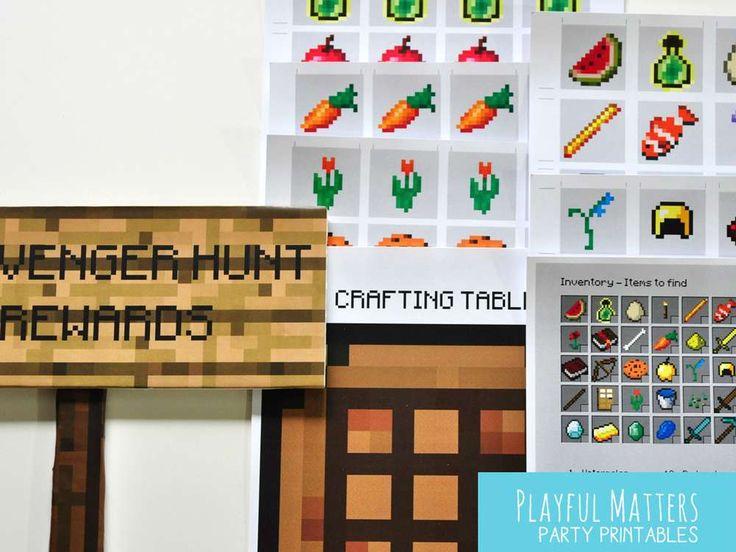 Minecraft scavenger hunt | CatchMyParty.com