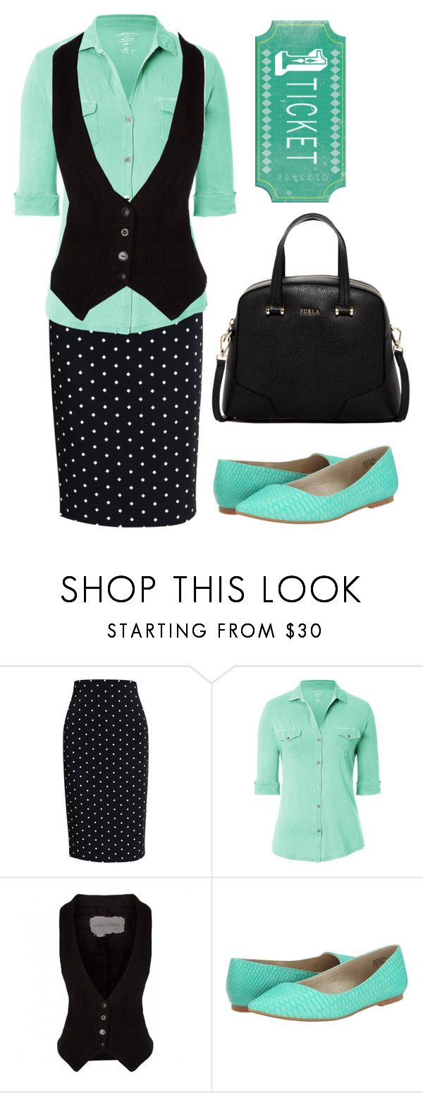 """Pentecostal outfits"" by lizzie2461 ❤ liked on Polyvore featuring Givenchy, Majestic, Greg Lauren, BC Footwear and Furla"