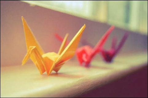 paper cranes.