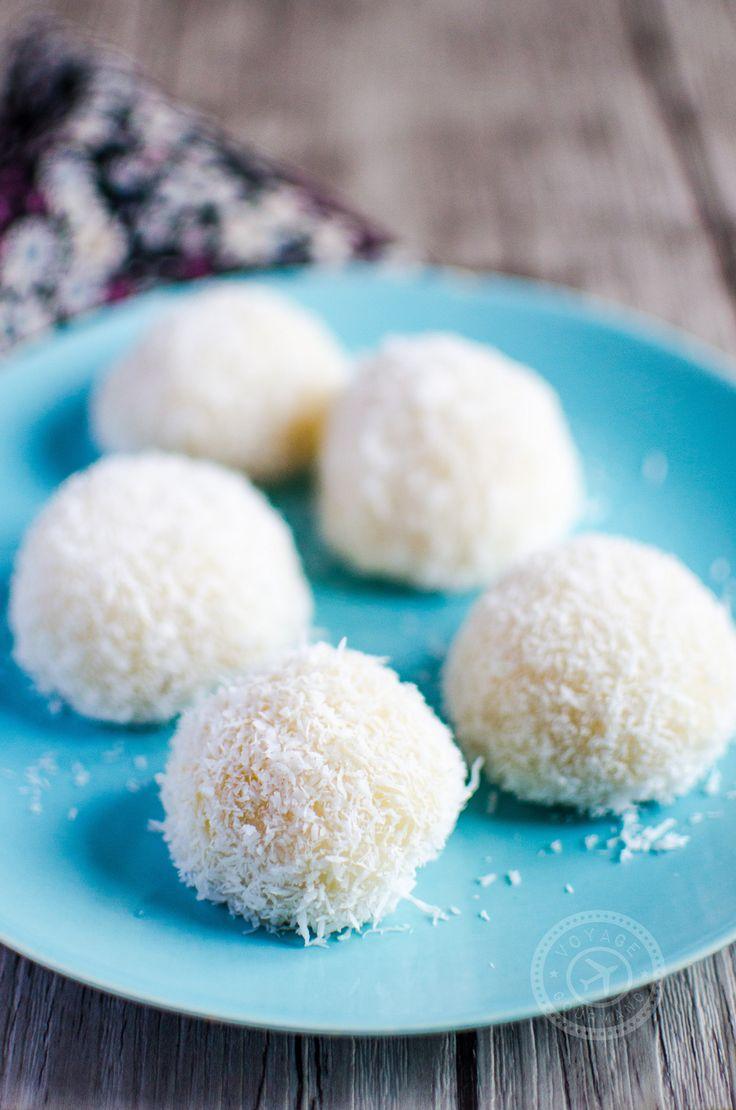 Perles de coco (ou boules de coco) | Voyage Gourmand